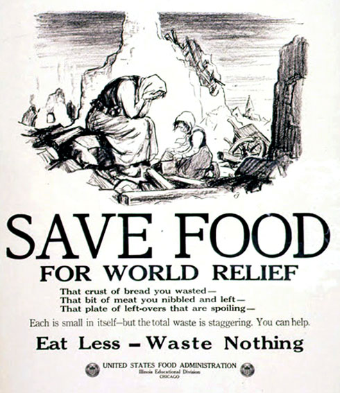 Image: A poster released during World War I by the U.S. Food Administration; Source: archives.gov