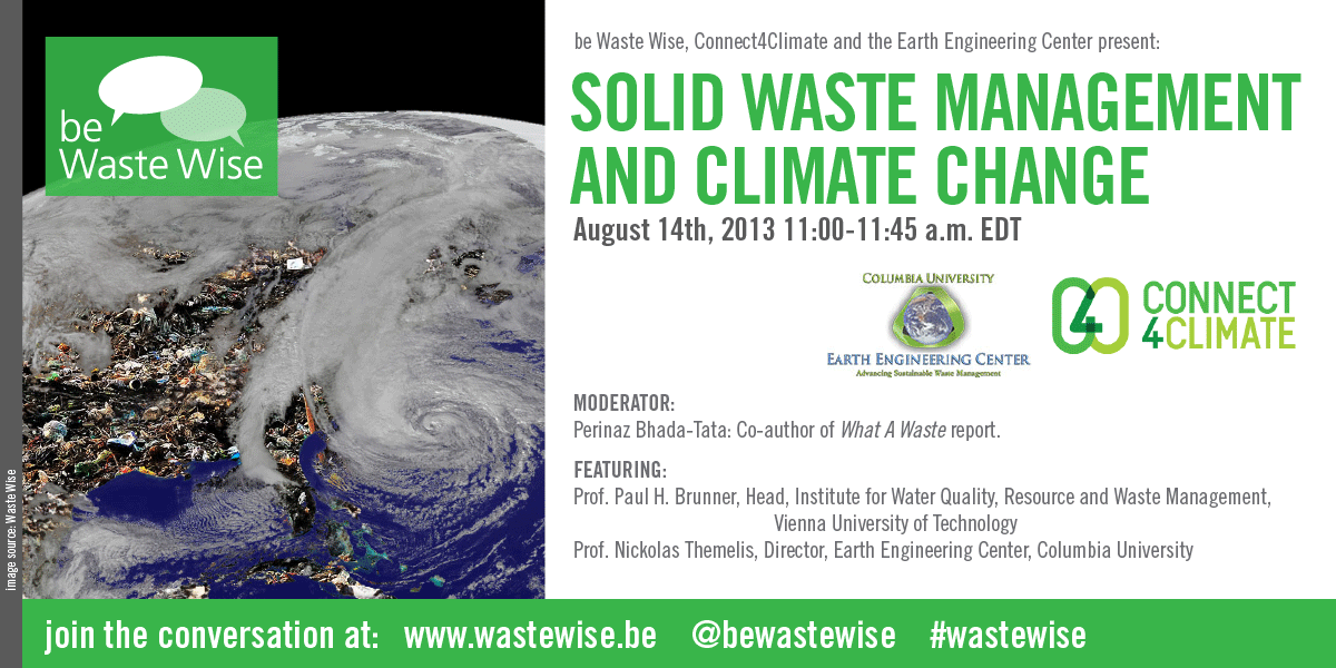 Solid Waste Management and Climate Change –   be Waste Wise