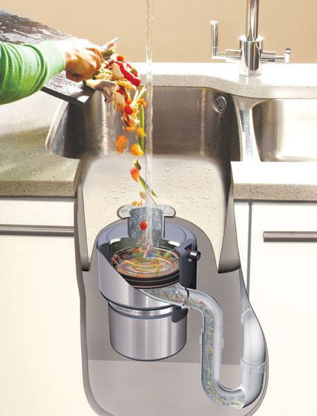Food waste disposers shred household or commercial food waste into small pieces that pass through a municipal sewer system without difficulty; Source: Food Waste Disposers Group U.K.