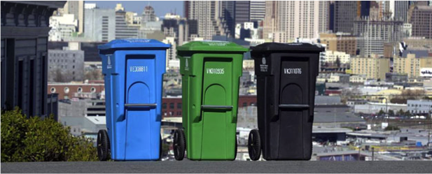 Image: Francisco employs a three-bin system that is available to every home or business owner; Source at ausenergy.com