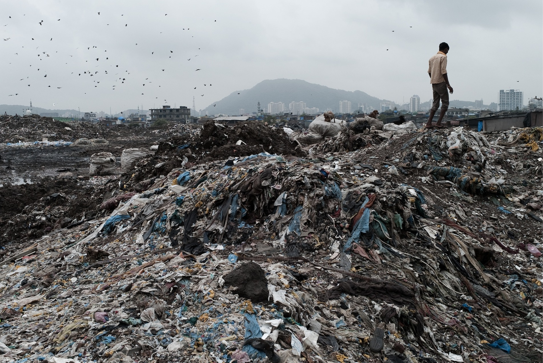 The Deonar dumping ground extends over 132 hectares and receives 5,500 metric tonnes of waste, 600 metric tonnes of silt and 25 tonnes of bio-medical waste daily. Source: www.colombotelegraph.com